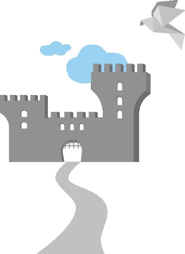 castle with bird